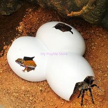 Estojo de animais para caverna de reptile, decoração para animais de estimação, concha de ovo para tartaruga, lagarto, cobra, amfibra, suprimentos branco c42