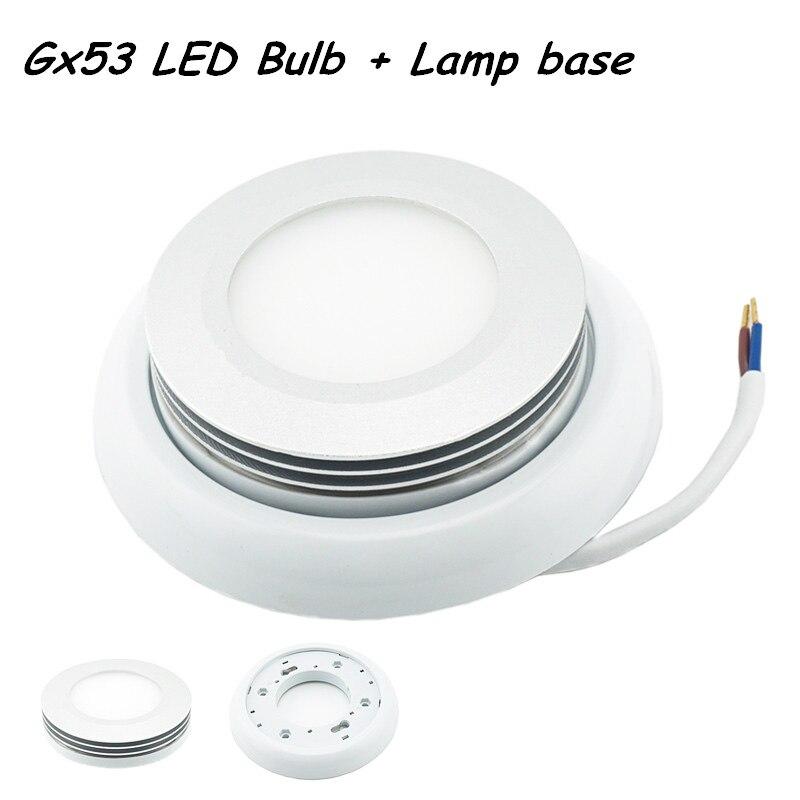 Estilo con Base GX53 Bombilla LED De Fijado Aluminio NUEVO 8Pvm0OywNn