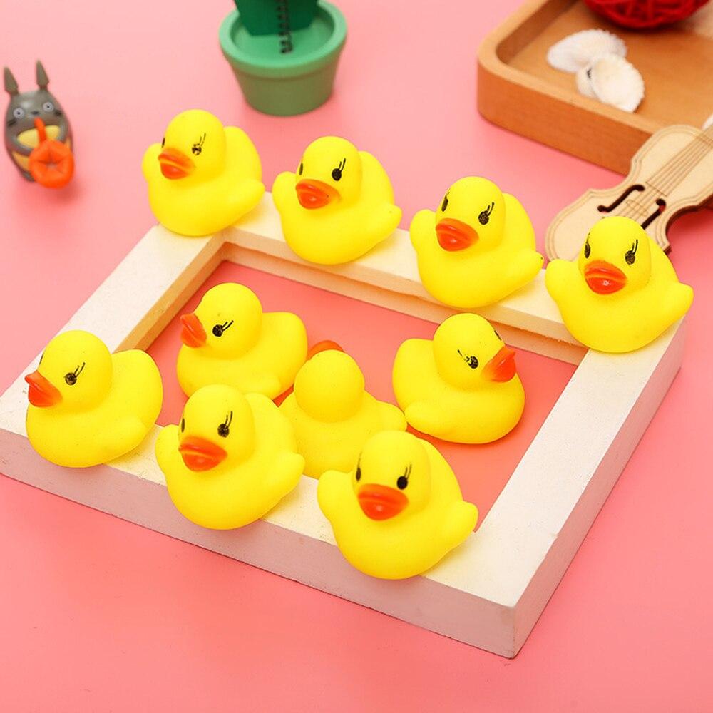 10Pcs/lot Kawaii Baby Floating Squeaky Rubber Ducks Kids Bath Toys ...