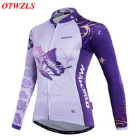 2017 Women long sleeve jersey only Spring/autumn cycling jersey Mountain bike clothing Pro cycling clothing Outdoor sport wear