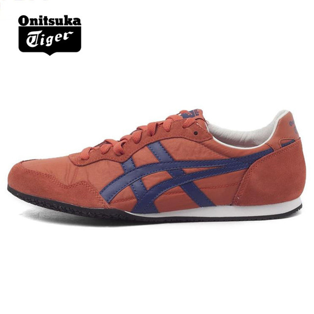 8507c855cf842 Original ONITSUKA TIGER SERRANO Shoes Men's Women Woven and anti-fu Cinnamon  Color Unisex low Classic Sneakers Badminton shoes