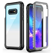 Funda para Samsung Galaxy S10 S10 Plus/S10e, protección de 360 grados cuerpo completo resistente parachoques transparente con Protector de pantalla incorporado