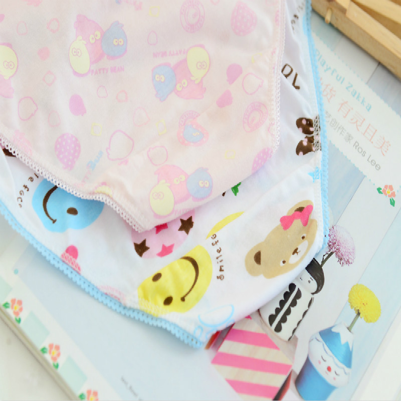 5 Pcs/lot New Candy Colors Mix Styles 100% Cotton Print Children's Underwear Panties for 2-12 Years 3