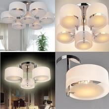 Акриловая люстра, Современная короткая лампа для гостиной, 1-7 огней, 110-240 В