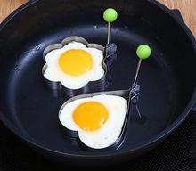 2PCS/SET Stainless Steel Fried Egg Mold with handle Pancake cooking Kitchen Tools Rings Cooking Styling