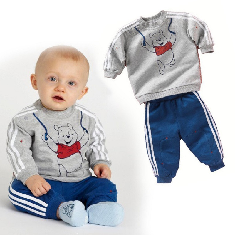 2016 cotton baby boy clothes Long sleeve sport  character suit baby clothing set newborn infant clothing 1 year birthday dress