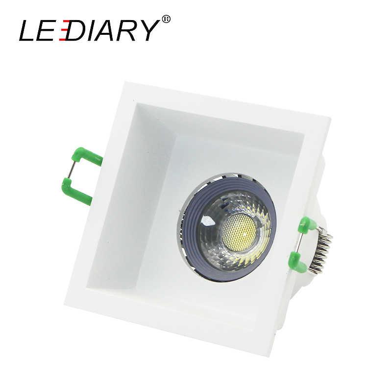 LEDIARY площади потолка анти-ослепительно светильники кольцо MR16 GU5.3 12 V 220 V 75 мм Вырезать отверстие глубоко вогнутой алюминиевый Точечный светильник Frame