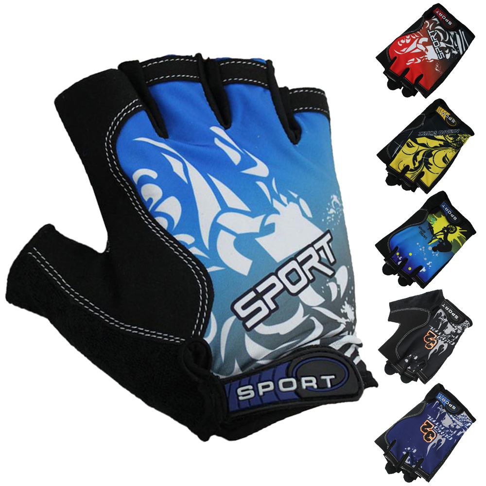 Hard-Working Guantes Ciclismo Gloves Men Unisex Half Finger Print Patttern Mtb Fitness Luvas Black Blue Jh0012 Fashionable Patterns Back To Search Resultsapparel Accessories