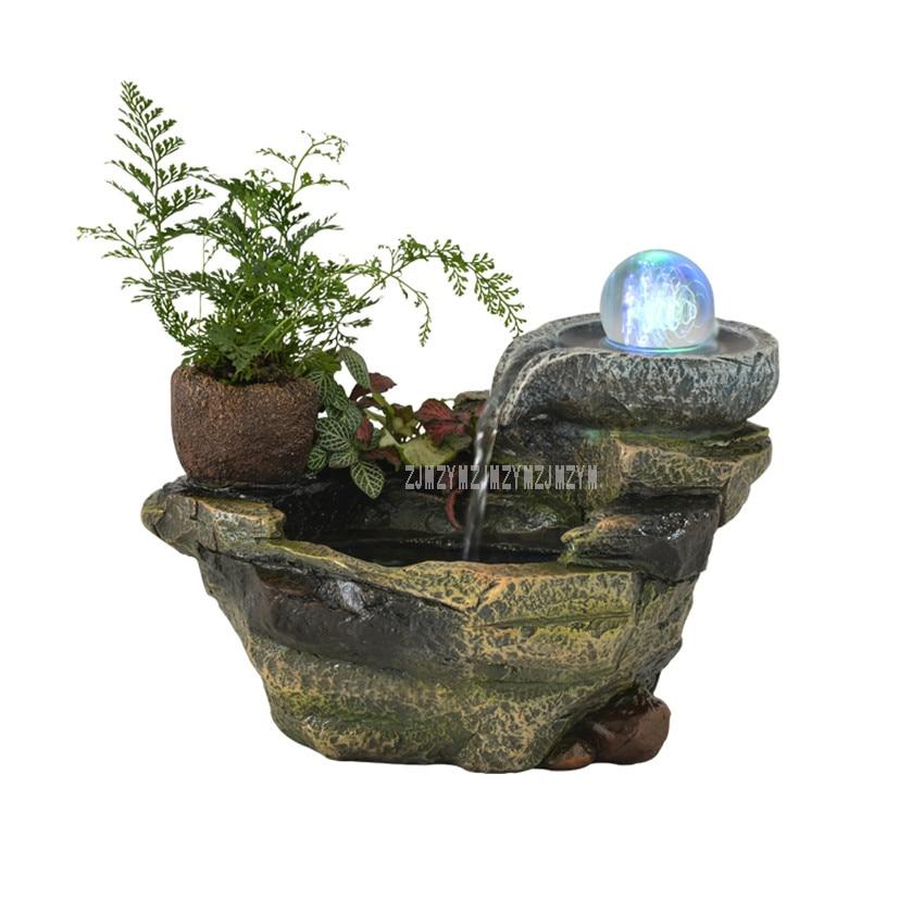 Декоративные миниатюрные смолы альпинарий фонтан фэн шуй орнамент Office для дома стол статуэтки для бонсай домашний декор свадебный подарок