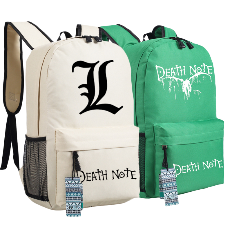 Hot Japanese Anime Death Note L Lawliet Killer Ryuuku Cosplay Printing Backpack Mochila Feminina School Bags For Teenagers