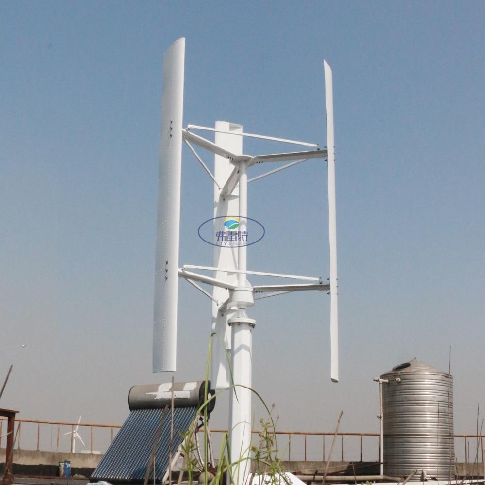 Vawt 1000w 48v 96v 110v Vertical Wind Turbine Generator