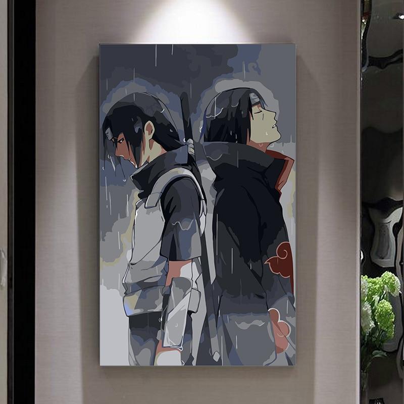 Pintura por números arte pintura por número Naruto cuadros dibujo para colorear por números en la lona con marco de pintura num