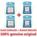 2 Упак./8 Шт. enelong 1.2 В 2100 мАч AA Аккумуляторная Батарея и 2 Упак./8 Шт. 900 мАч AAA Аккумуляторы