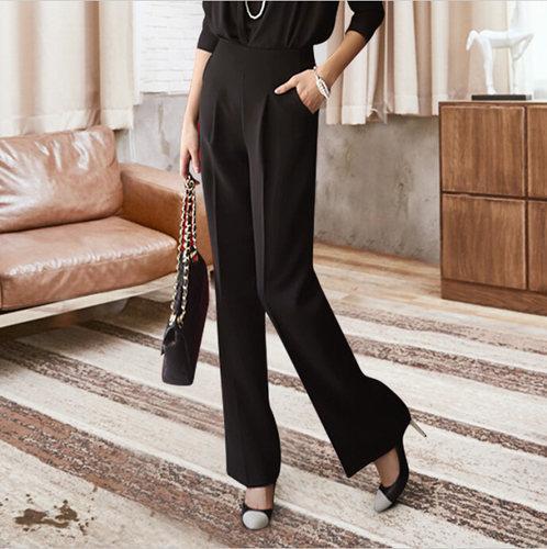 [MENKAY] 2018 Spring Summer New High Waist Korean Thin Casual White Loose Long Wide Leg Pants Women New Fashion Clothes