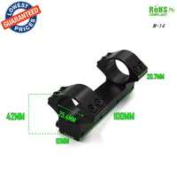 1PC 25DZ/M-14 25.4mm 1 Diameter See-Through Double Scope Rings of 10mm Mount 20mm Weaver Rail gun scope mounts