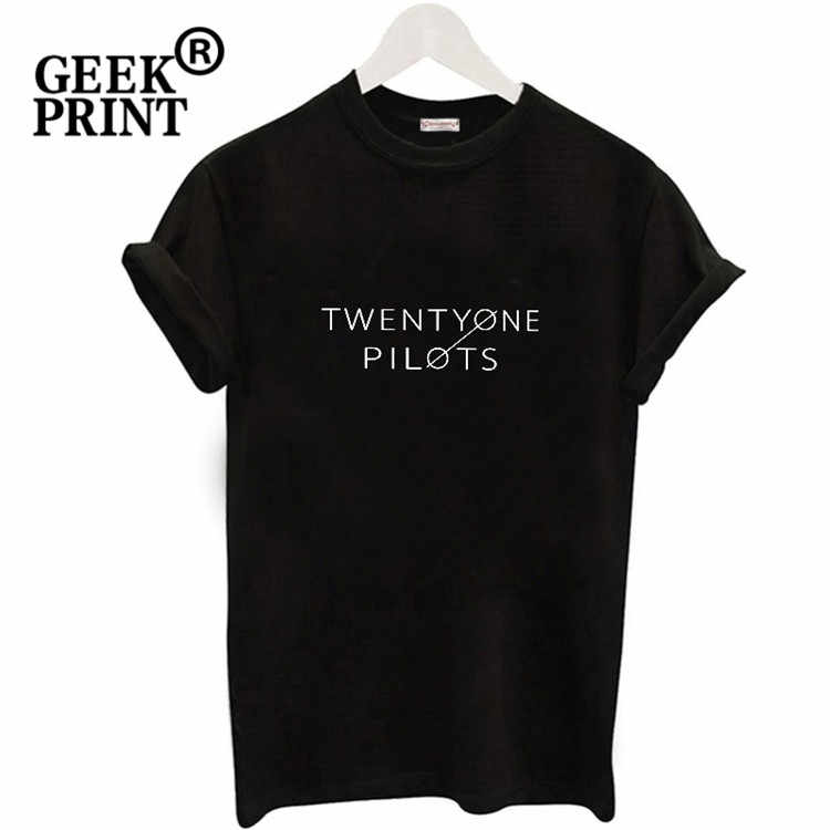 New Arrival twenty-one pilots Logo T-shirt Fangirl  Harajuku short sleeved Slogan T-shirt Crop T-shirt