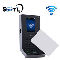Free Shipping Facial And Fingerprint Time Recorder MF 13.56mHZ Card Biometric Employee Tracking System ZK UF600 With WiFi
