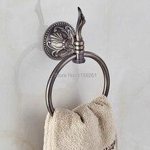 Бесплатная Доставка Ретро Стиль Ванной Полотенце Стойки Настенные Античная Бронзовая Кольцо Полотенца ZP-9325F