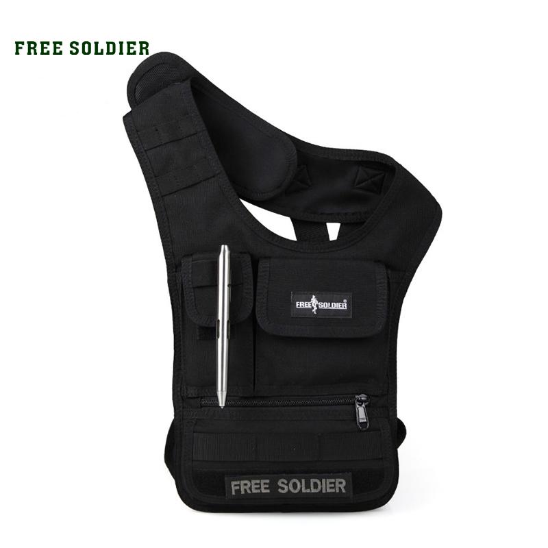 Prix pour Free soldier sports de plein air randonnée gilet sac molle système tablet ipad sac hommes de sac à main et portefeuille corduar matériel ykk zipper sacs