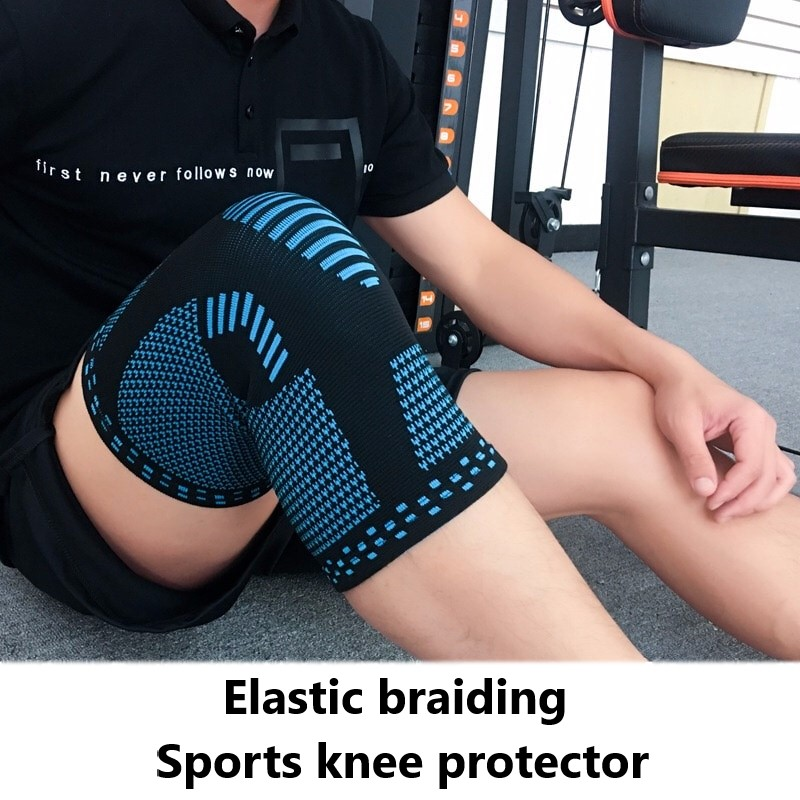 Knitted Warm Knee Protector Running Basketball Riding Badminton Professional Fitness Equipment Men And Women Knee Sleeve
