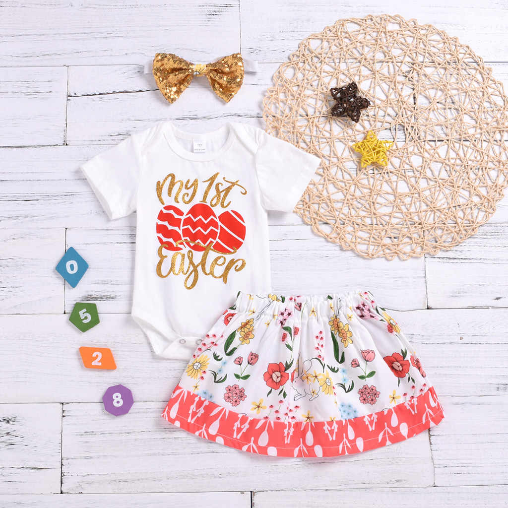 c38c549a6e3ff Newborn Baby Cute Summer 2019 Girl Clothes Fashion Floral Letter Print Romper  Baby Girl Set Casual