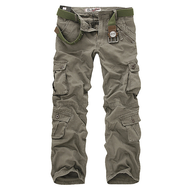 6920efa03 mens clothing brand mens pants casual cargo pant men multi-pocket military  pants cotton Loose