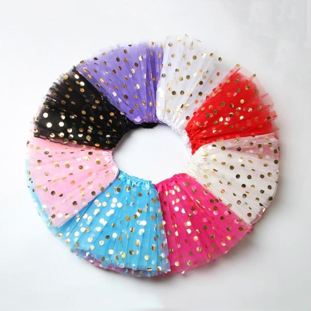 Elegant Polka Dot Polyester Skirt for Baby Girls 4