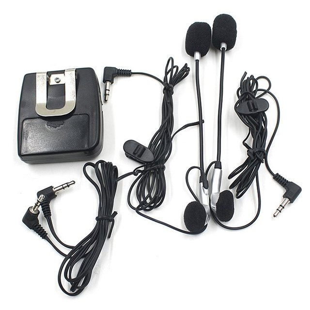 Portable Motorcycle Handfree Helmet Walkie Talkie with Ear Headset for Motorcycle Intercom Interphone Free Shipping