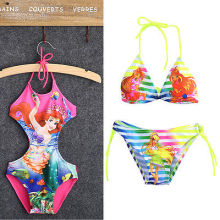 2016 NEW Kids Baby Girls Beautiful Mermaid Fancy Swimwear Swimsuit Bikini Set Age 2-10Y Children Swimsuit Children's Swimwear