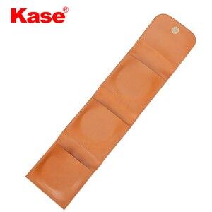 Image 2 - Kase 3 bolso couro do plutônio câmera dobrável circular lente filtro carry caso saco bolsa para 25mm 82mm filtros