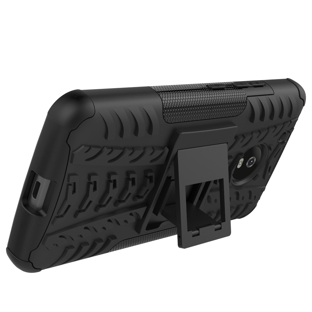 Hevry Tough Rugged Dual Layer Heavy Duty Armor Case for Motorola Moto G5 5.0 inch Heavy Duty Armor Tough Kickstand Case Cover