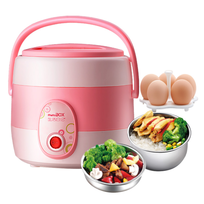Electric Lunchbox Rice Cooker Double Insulation Portable Plug In Heating Cooking 1.5L 1-2 People lunchbox electric portable rice cooker can be plugged in electric heating automatic heat preservation cooker