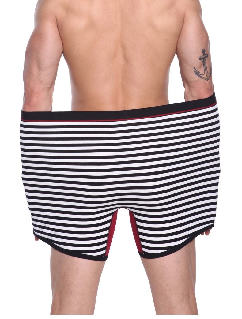 4Pcs High Quality Men's Cotton Long Boxers Shorts 8