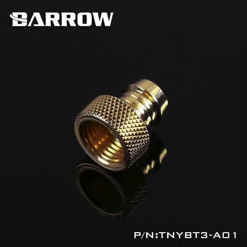 Barrow ทองเหลือง G1/4 ''ด้ายหญิง 3/8'' เจดีย์ประเภทสำหรับอุปกรณ์เสริมคอมพิวเตอร์สำหรับ water cooling TNYBT3-A01