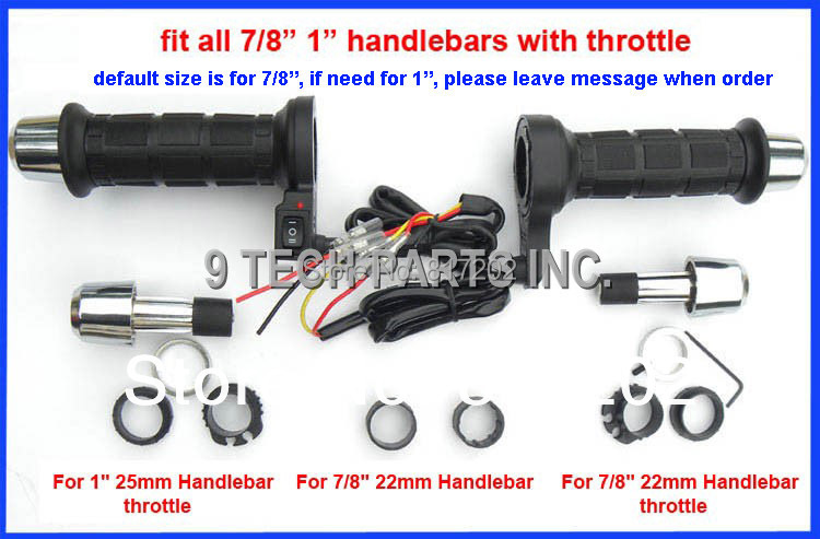 """Universal 7//8/"""" Quick Heated Grips Handlebar ATV Warm Hand Grips for Motorcycle"""