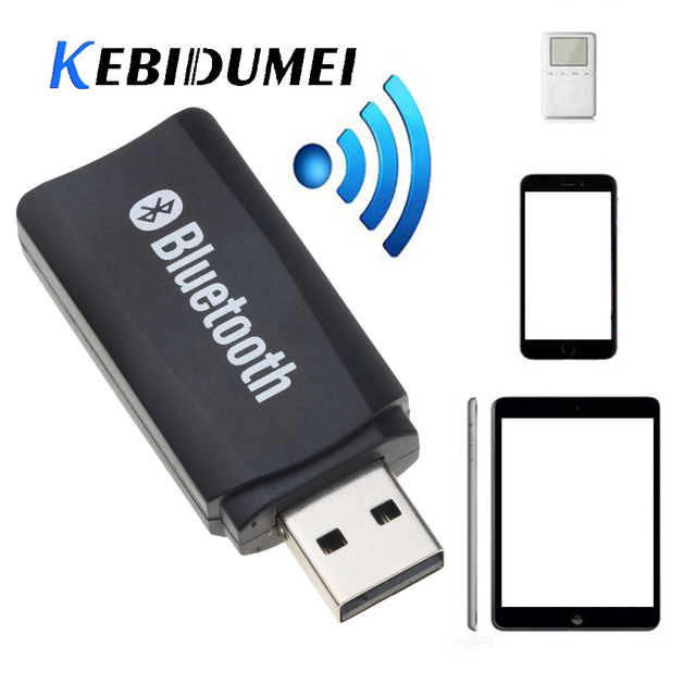 US $1 0 24% OFF|kebidumei USB Wireless Bluetooth Music Stereo Receiver  Adapter AMP Dongle Audio 3 5mm For Windows 2000/xp/visat Win7 Win8 Linux-in  USB
