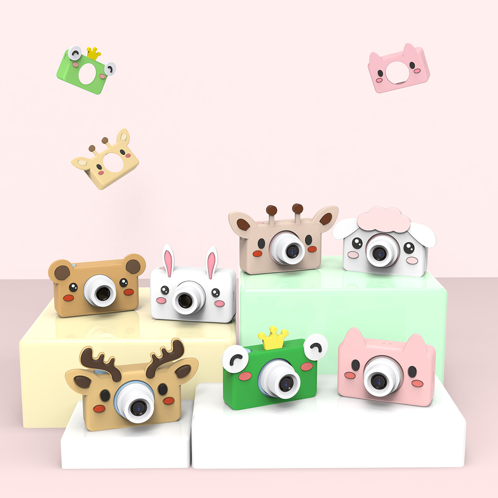 8MP HD 2 LCD Children Kids Mini Digital Video Camera Portable Kids Toys Camera with Cartoon Stickers Children Gifts Fotografica image
