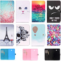Lovely Pattern Wallet Flip PU Leather Back Cover For Samsung Galaxy Tab E 9.6 T560 T561 SM-T560 Tablet Shell Protector Funda