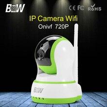 BW Беспроводная Ip-камера Wi-Fi HD CCTV 720 P Автоматической Сигнализации Поворотный Карта Micro Sd Камеры Видеонаблюдения Wi-Fi Двусторонней Передачи Звука