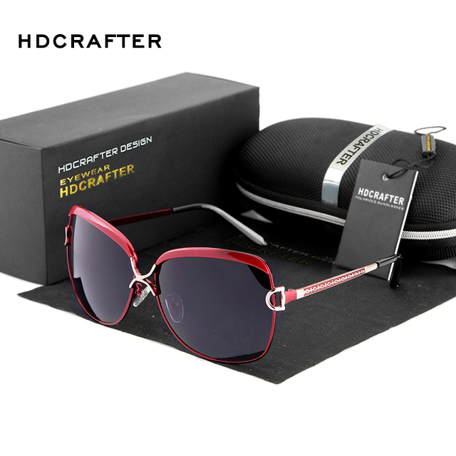 6626f2efb HDCRAFTER Women's Luxury Brand Designer Sunglasses Oversized Polarized Sun  Glasses For Women Vintage Female Ladies Oculos 2017