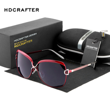 HDCRAFTER Women's Luxury Brand Designer Sunglasses Oversized Polarized Sun Glasses For Women Vintage Female Ladies Oculos 2017