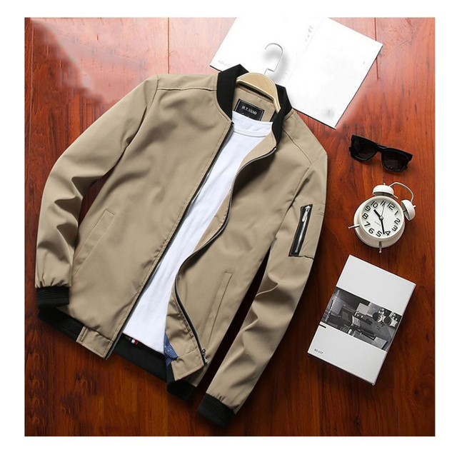 Spring Autumn Casual Coats Bomber Jacket Slim Fashion Male Outwear Mens Brand Clothing 6XL