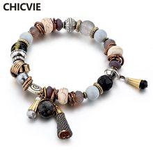 Chicvie серые браслеты с бисером дружбы и шармы для женщин богемные