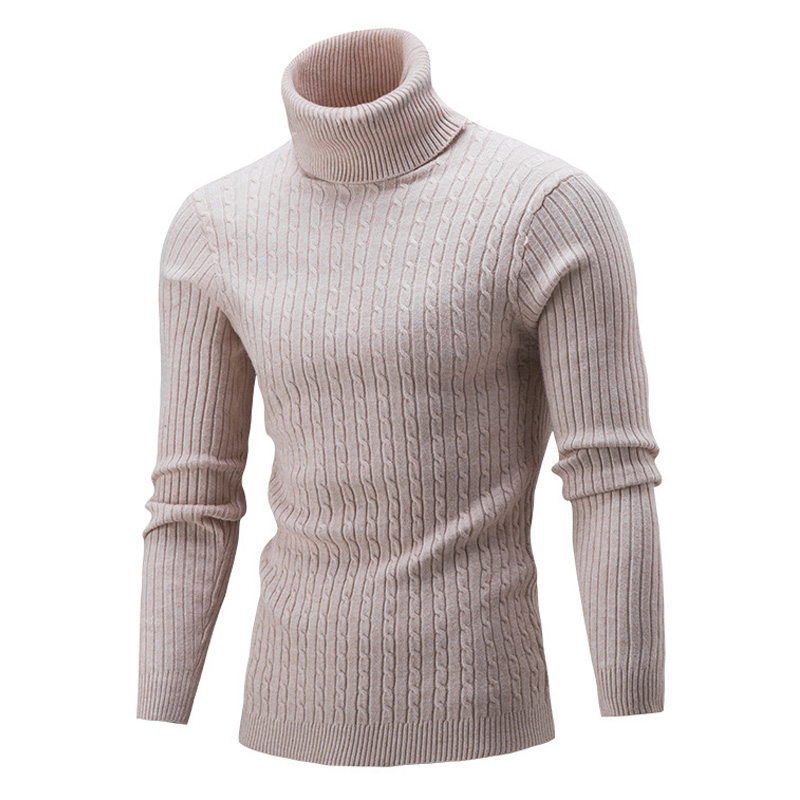 NEW 2020 Fashion Sweater Pullovers Male Casual Solid Color Knitt Simple Sweaters Men Comfortable Turtleneck Men's Sweaters