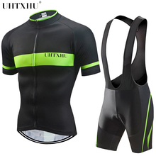 Uhtxhu 2018 Cycling Clothing Men Summer Bike Bicycle Jerseys Clothes Breathable Short Sleeve Cycling Set/Kit/Suit