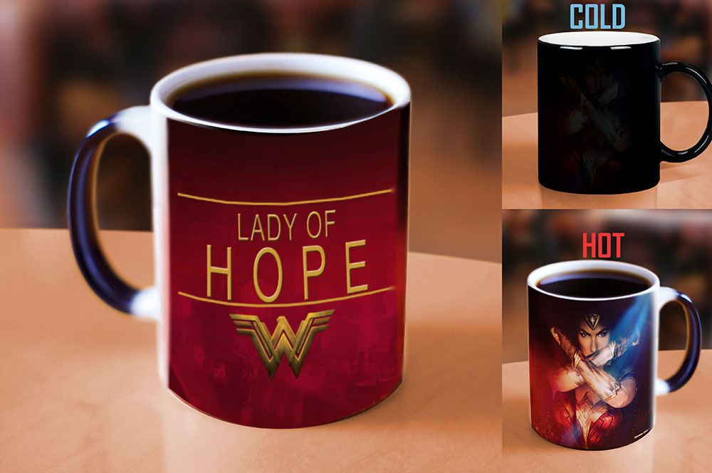 Light Magic super hero Wonder Woman changing color coffee mug best gift coffee mug for your friends