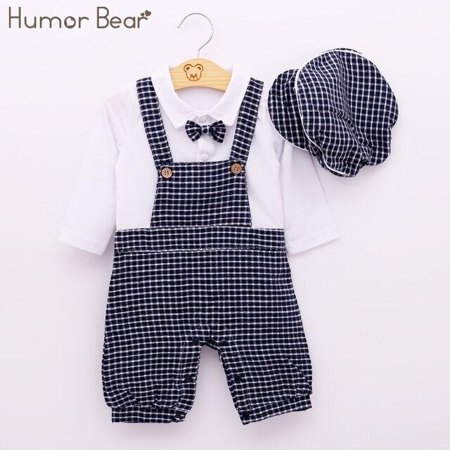 267c73062 Humor Bear Baby Boy Clothing Set Autumn Style Gentleman Long Sleeve ...