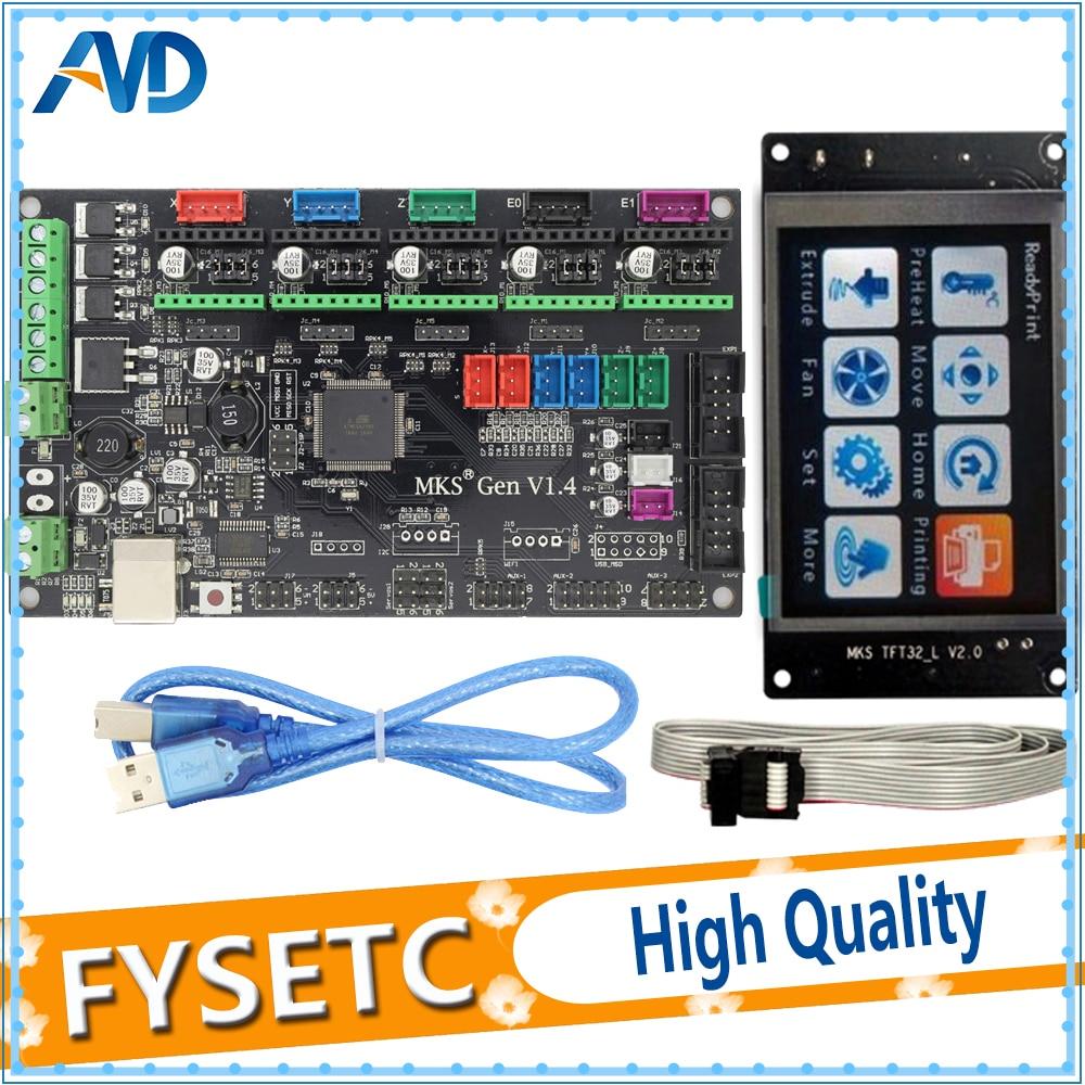 MKS Gen V1.4 Control Board Compatible For Ramps1.4/Mega2560 R3 3D Printer Parts With MKS TFT32 LCD Screen Display настольный пк dell vostro 3268 3268 4399 3268 4399