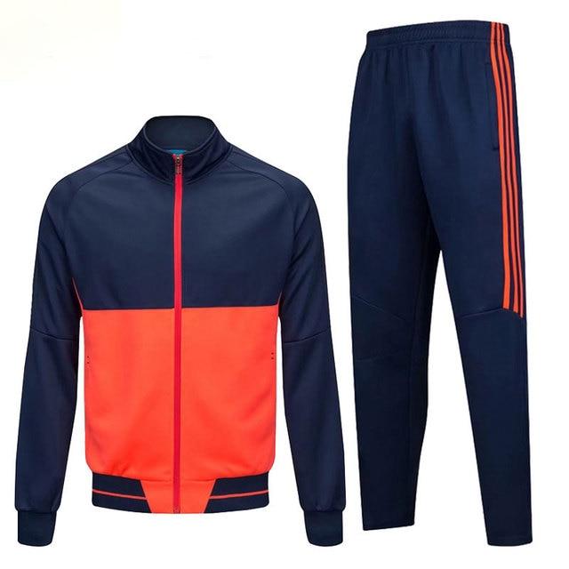 Youth Boys Football Tracksuits Soccer Uniforms Basketball Jersey Men Long  Sleeve Jogging Fitness Jumper Training Jacket 9a7b7007c