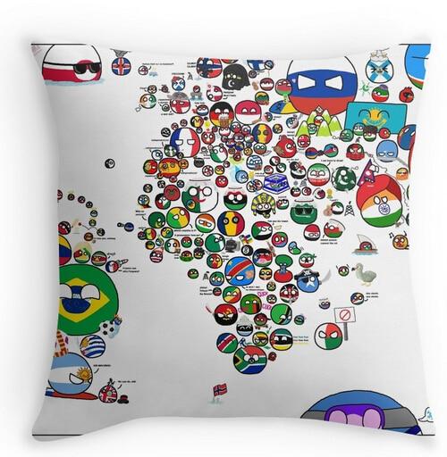 Polandball countryball world map countryballs meme pillow case two polandball countryball world map countryballs meme pillow case two sides for12x12 14x14 16x16 18x18 20x20 24x24 inch in pillow case from home garden on gumiabroncs Choice Image